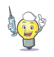 nurse light bulb character cartoon vector image vector image