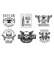 outlaw street criminal retro labels set ghetto vector image vector image