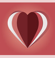 paper cut out heart vector image vector image