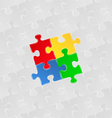 puzzle background vector image vector image