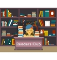 Readers club Education and love of reading vector image vector image