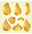 Realistic gold machine oil vector image vector image
