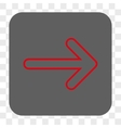 Rounded Arrow Right Rounded Square Button vector image