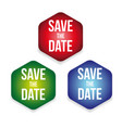 save date label set vector image
