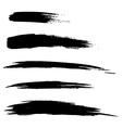 set hand drawn grunge brush lines vector image