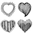 set of design heart shaped vector image vector image