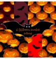 Set of Halloween seamless backgrounds vector image vector image