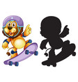 set of lion skateboard vector image