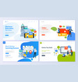 set of web page design templates for education vector image vector image