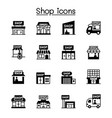 set shop icons contains such icons as vector image vector image