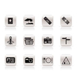 simple travel and trip icons vector image vector image