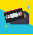stack video cassette tapes vector image vector image
