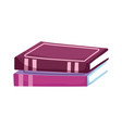stacked books literature read learn isolated icon vector image