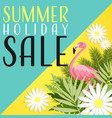 summer holiday sale banner template vector image vector image