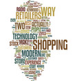technology changes in the retail industry text vector image vector image