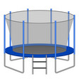 trampoline icon realistic style vector image vector image