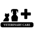 veterinary care isolated icon vector image vector image
