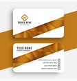 white and golden business card design template vector image vector image