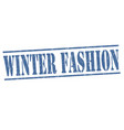 winter fashion grunge rubber stamp vector image vector image