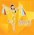 woman with shopping bags design template vector image