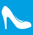 women shoe with heels icon white vector image vector image