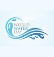 world water day splash vector image