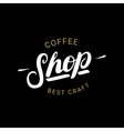 Coffee Shop handwritten lettering logo badge or vector image