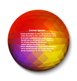 Round Abstract geometric design element vector image