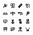 Set icons of television vector image