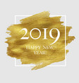 2019 new year poster with golden blot vector image vector image