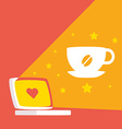 about work and coffee daytime vector image