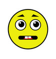 an indifferent smiley vector image