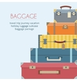 Baggage on background vector image