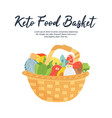 basket of ketogenic diet food high healthy fats vector image