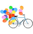 Bicycle with Balloons vector image vector image