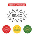 bingo lotto lottery logo template vector image