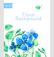 blue watercolor summer flowers vector image vector image
