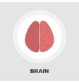 Brain flat icon vector image vector image