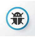 bug icon symbol premium quality isolated beetle vector image