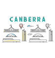 Canberra Capital city Australia Sights of vector image vector image