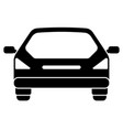 car icon rear view vector image vector image