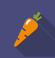 carrot flat icon colorful logo vector image vector image