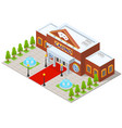 casino building isometric view vector image vector image