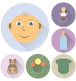 childrens icons on a white background vector image vector image