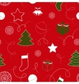 christmas background with bells seamless pattern vector image vector image