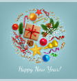 christmas decoration concept vector image vector image