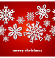 Christmas snowflakes red pattern vector image vector image