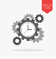 Clock with cogwheels icon Time management concept vector image vector image