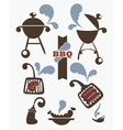 collection of bbq symbols vector image