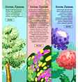 Colored banners with tree flower and abstraction vector image vector image